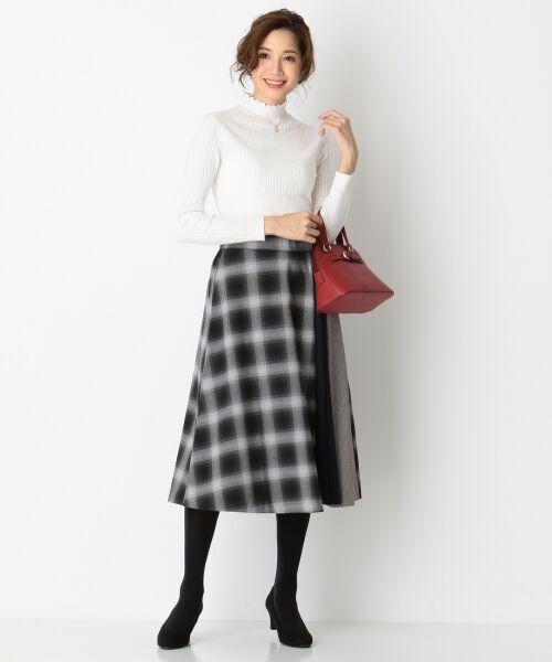 any SiS / エニィスィス ミニ・ひざ丈スカート | 【洗える】チェック柄切り替え スカート | 詳細2