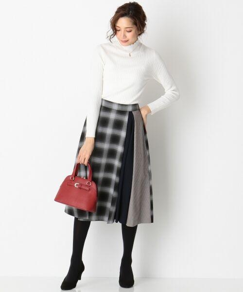 any SiS / エニィスィス ミニ・ひざ丈スカート | 【洗える】チェック柄切り替え スカート | 詳細3