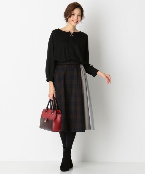 any SiS / エニィスィス ミニ・ひざ丈スカート | 【洗える】チェック柄切り替え スカート | 詳細15