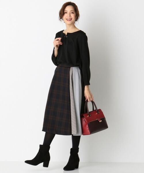 any SiS / エニィスィス ミニ・ひざ丈スカート | 【洗える】チェック柄切り替え スカート | 詳細17