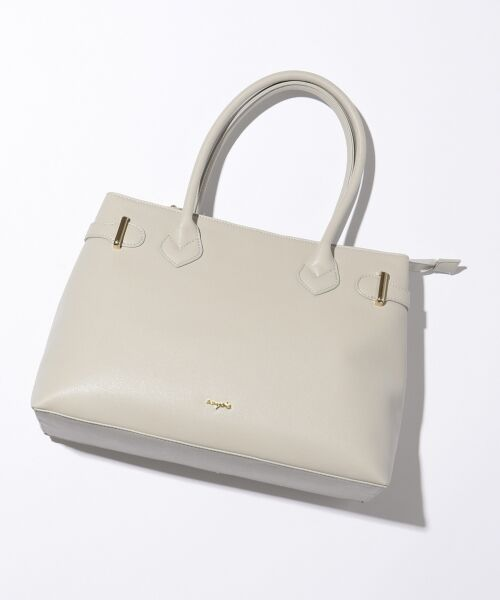 any SiS / エニィスィス トートバッグ | 【A4サイズ収納可】サイドベルト トートバッグ(ライトグレー系)