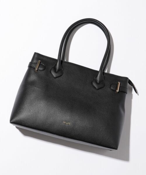any SiS / エニィスィス トートバッグ | 【A4サイズ収納可】サイドベルト トートバッグ(ブラック系)