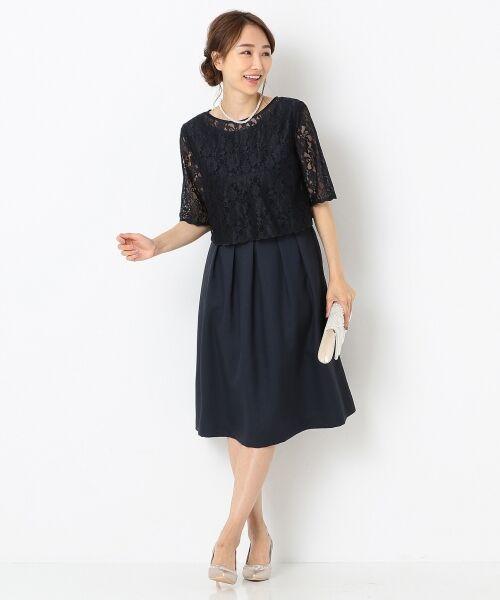 any SiS / エニィスィス ドレス | 【3WAY】レースボレロ ドレス(ネイビー系)