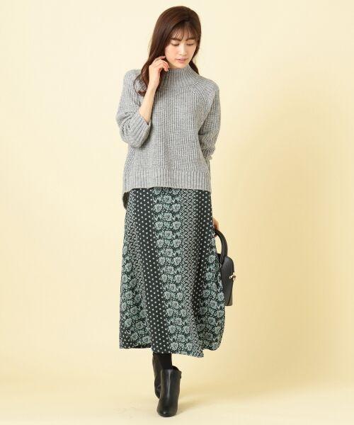 any SiS / エニィスィス ミニ・ひざ丈スカート | 【洗える】パネルプリントロング スカート | 詳細1