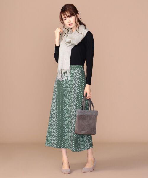 any SiS / エニィスィス ミニ・ひざ丈スカート | 【洗える】パネルプリントロング スカート | 詳細2