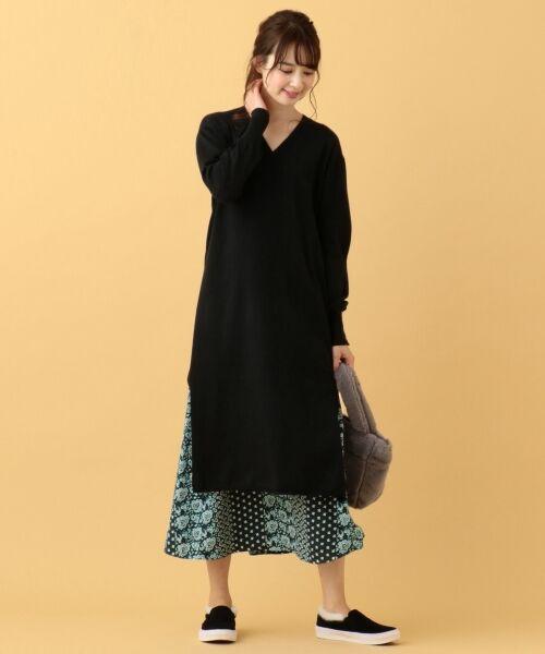 any SiS / エニィスィス ミニ・ひざ丈スカート | 【洗える】パネルプリントロング スカート | 詳細3