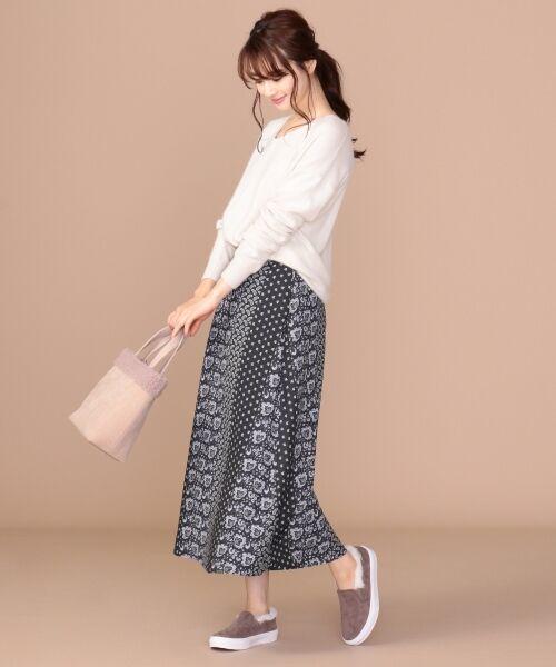 any SiS / エニィスィス ミニ・ひざ丈スカート | 【洗える】パネルプリントロング スカート | 詳細17