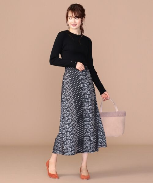 any SiS / エニィスィス ミニ・ひざ丈スカート | 【洗える】パネルプリントロング スカート | 詳細19