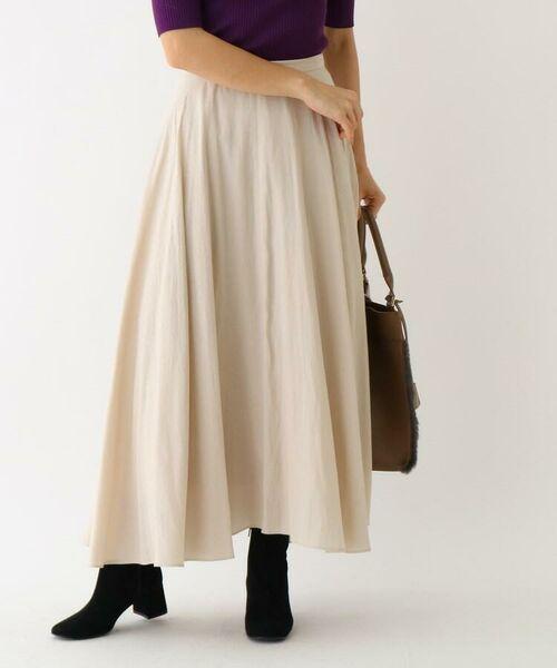 aquagirl / アクアガール ロング・マキシ丈スカート | スプリットフローレットスカート(オフホワイト(003))