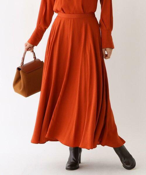 aquagirl / アクアガール ロング・マキシ丈スカート | スプリットフローレットスカート(ダークオレンジ(068))