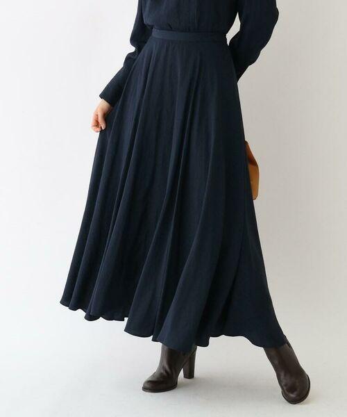 aquagirl / アクアガール ロング・マキシ丈スカート | スプリットフローレットスカート(ネイビー(093))