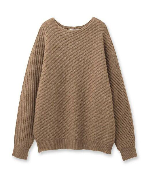aquagirl / アクアガール ニット・セーター | カシミヤ混ドルマンバイヤスリブニット | 詳細1
