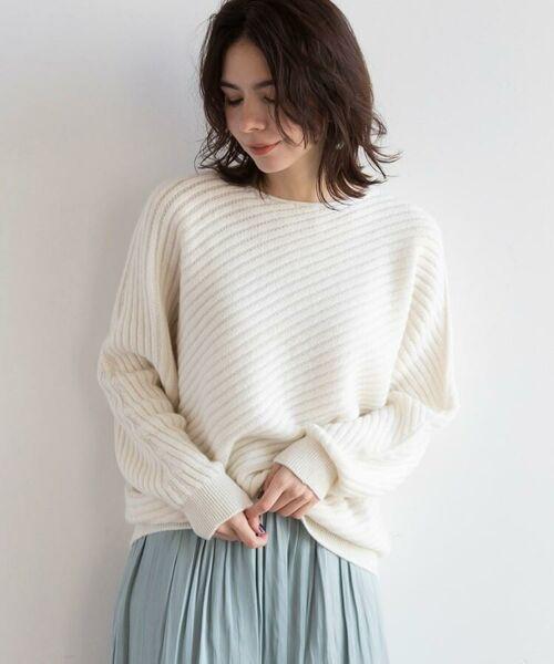 aquagirl / アクアガール ニット・セーター | カシミヤ混ドルマンバイヤスリブニット | 詳細20