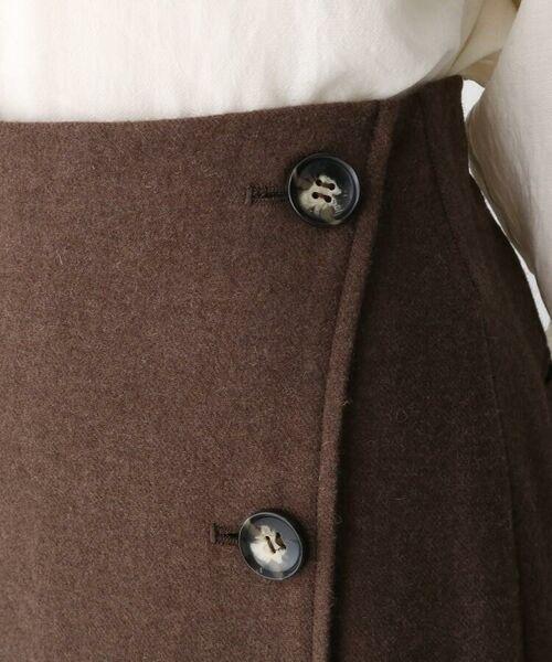 aquagirl / アクアガール ロング・マキシ丈スカート   ウール混ボタンAラインスカート   詳細10
