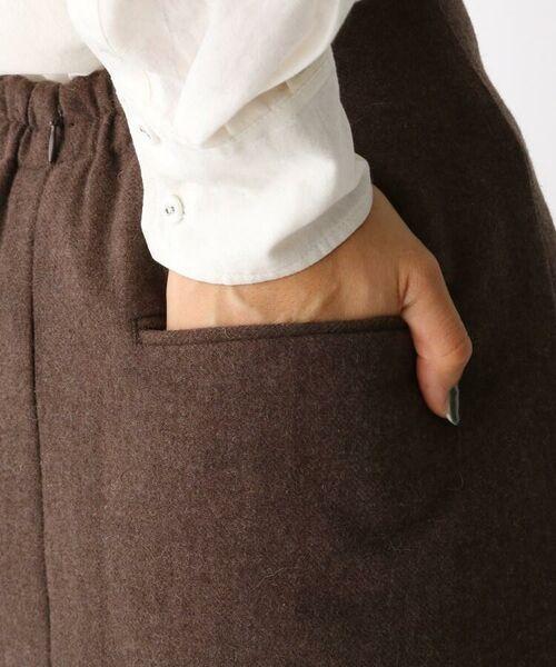 aquagirl / アクアガール ロング・マキシ丈スカート   ウール混ボタンAラインスカート   詳細11