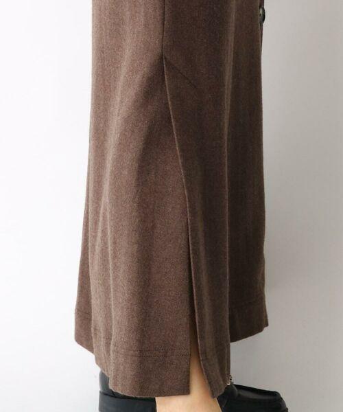 aquagirl / アクアガール ロング・マキシ丈スカート   ウール混ボタンAラインスカート   詳細12