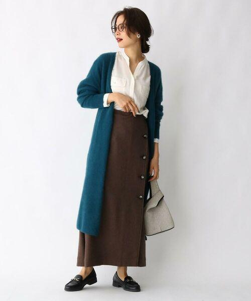 aquagirl / アクアガール ロング・マキシ丈スカート   ウール混ボタンAラインスカート   詳細4