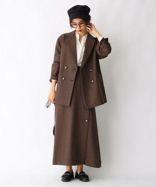 aquagirl / アクアガール ロング・マキシ丈スカート   ウール混ボタンAラインスカート   詳細6