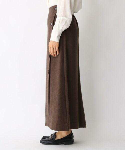 aquagirl / アクアガール ロング・マキシ丈スカート   ウール混ボタンAラインスカート   詳細8