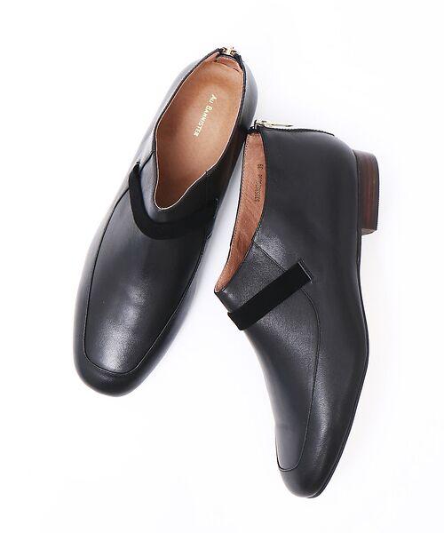 Au BANNISTER / オゥ バニスター ブーツ(ショート丈) | スクエアモカショートブーツ(BLK)