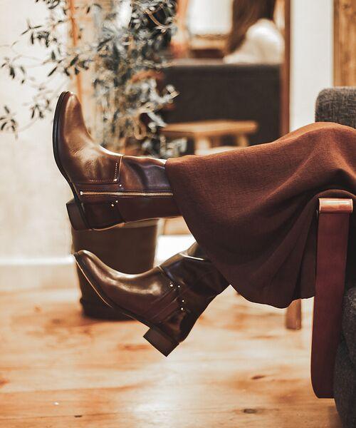 Au BANNISTER / オゥ バニスター ブーツ(ショート丈) | サイドジップロングブーツ(ダークブラウン)
