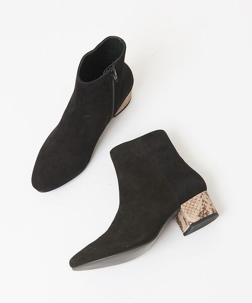 Au BANNISTER / オゥ バニスター ブーツ(ショート丈) | 【販売店舗限定】デザインヒール ショートブーツ(ブラック)