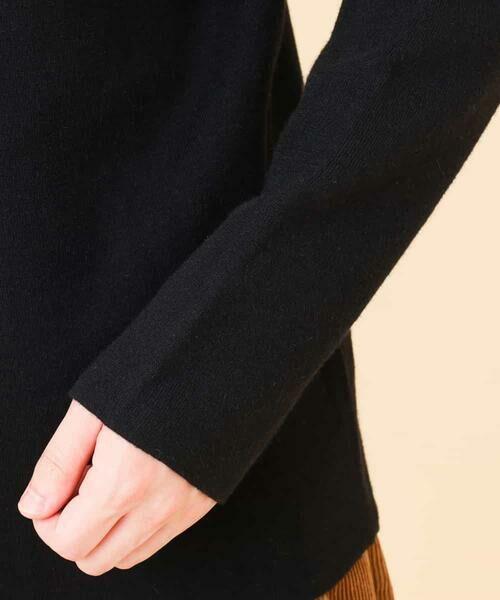 a.v.v / アー・ヴェ・ヴェ ニット・セーター | 【吸湿発熱/洗濯機で洗える】ダブルフェイスモックネックニット | 詳細12