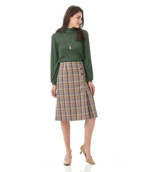 Aylesbury / アリスバーリー スカート   ◆ラップ風カラーチェックスカート   詳細2