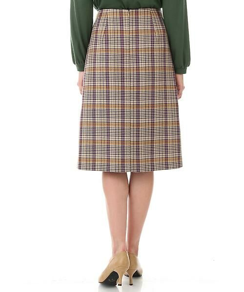 Aylesbury / アリスバーリー スカート   ◆ラップ風カラーチェックスカート   詳細3