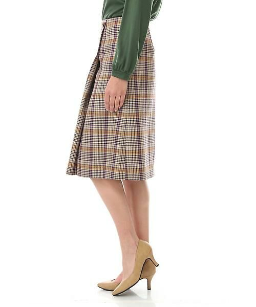 Aylesbury / アリスバーリー スカート   ◆ラップ風カラーチェックスカート   詳細4