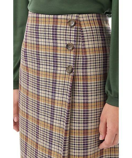 Aylesbury / アリスバーリー スカート   ◆ラップ風カラーチェックスカート   詳細5