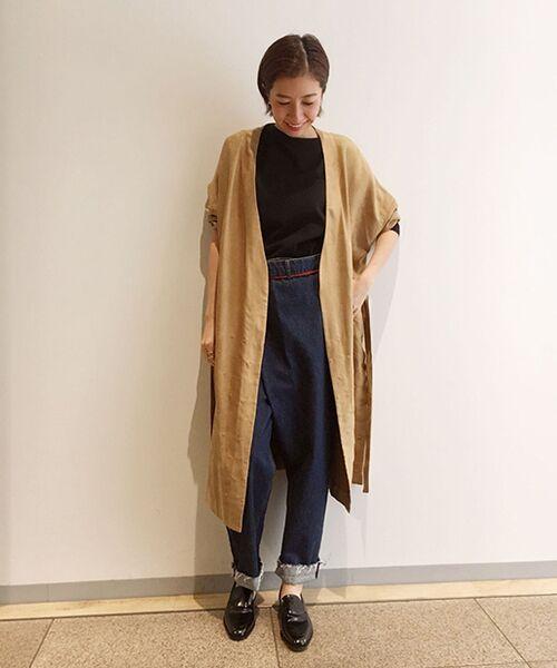 BEARDSLEY / ビアズリー その他アウター | ドット刺繍ユル羽織(キャメル)