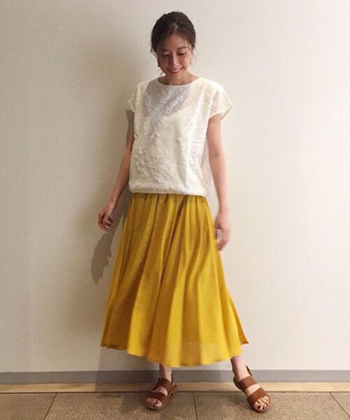 BEARDSLEY / ビアズリー ニット・セーター | 敦賀刺繍コンビフレンチニット(ホワイト)