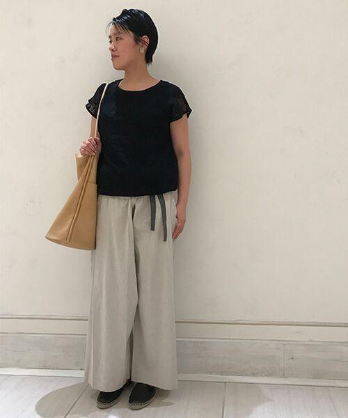 BEARDSLEY / ビアズリー ニット・セーター | 敦賀刺繍コンビフレンチニット(ブラック)