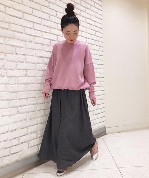 BEARDSLEY / ビアズリー ニット・セーター | 裾ドロストニット(ピンク)