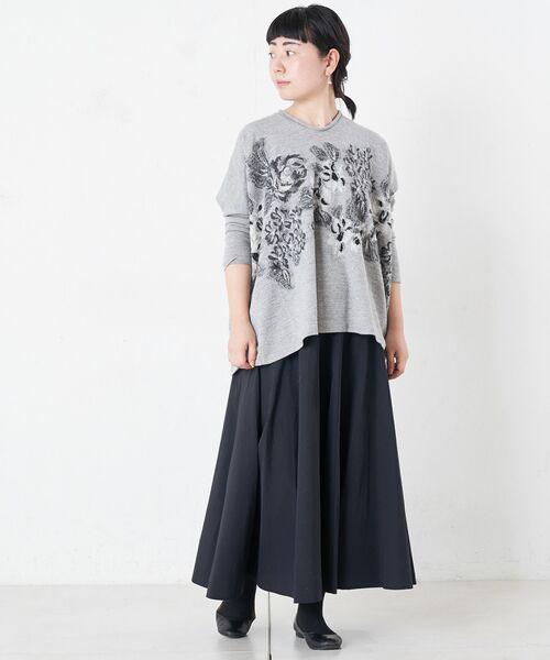 BEARDSLEY / ビアズリー ロング・マキシ丈スカート | ウエストジャージータフタスカート | 詳細11