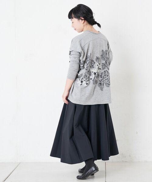 BEARDSLEY / ビアズリー ロング・マキシ丈スカート | ウエストジャージータフタスカート | 詳細13