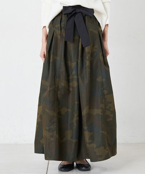 BEARDSLEY / ビアズリー ロング・マキシ丈スカート | 再入荷!迷彩ギャザータックスカート | 詳細4