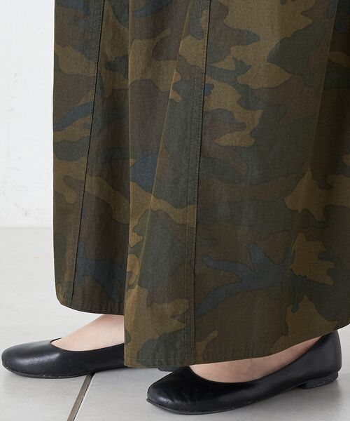 BEARDSLEY / ビアズリー ロング・マキシ丈スカート   再入荷!迷彩ギャザータックスカート   詳細9