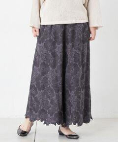 【店頭で完売商品 オンラインストアのみで追加予約決定】花刺繍パンツ