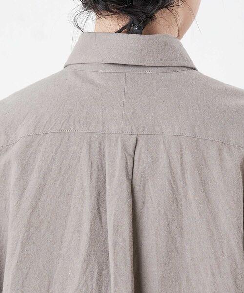 BEARDSLEY / ビアズリー シャツ・ブラウス | コットンウールBIGシャツ | 詳細14