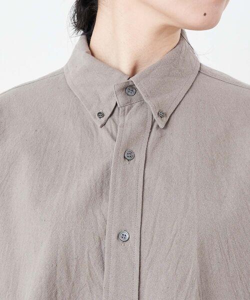 BEARDSLEY / ビアズリー シャツ・ブラウス | コットンウールBIGシャツ | 詳細15