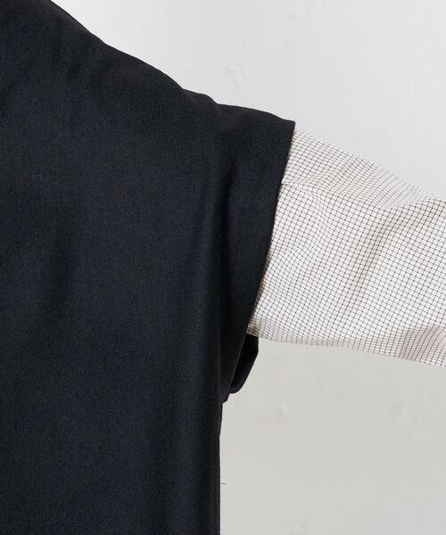 BEARDSLEY / ビアズリー シャツ・ブラウス | ポンチョニットセットブラウス | 詳細18