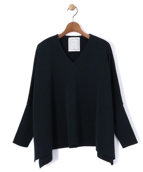 BEARDSLEY / ビアズリー ニット・セーター | Vシンプルプルオーバーニット(ネイビー)