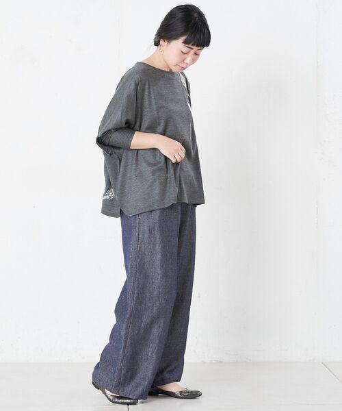 BEARDSLEY / ビアズリー カットソー   モヘア刺繍プルオーバーカットソー   詳細12