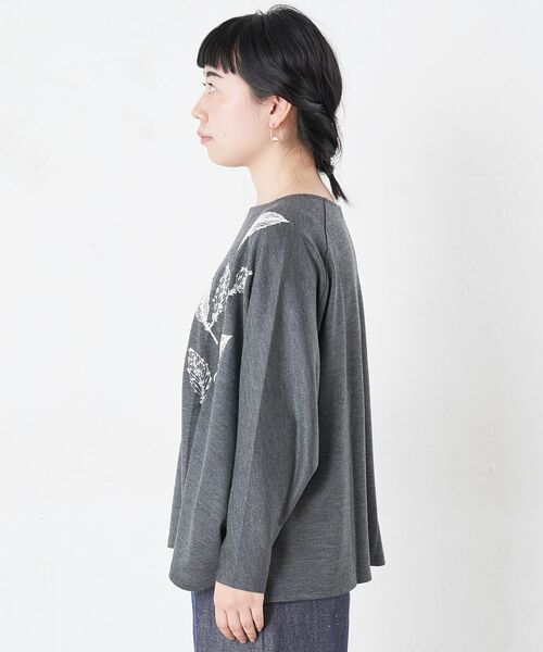 BEARDSLEY / ビアズリー カットソー   モヘア刺繍プルオーバーカットソー   詳細15