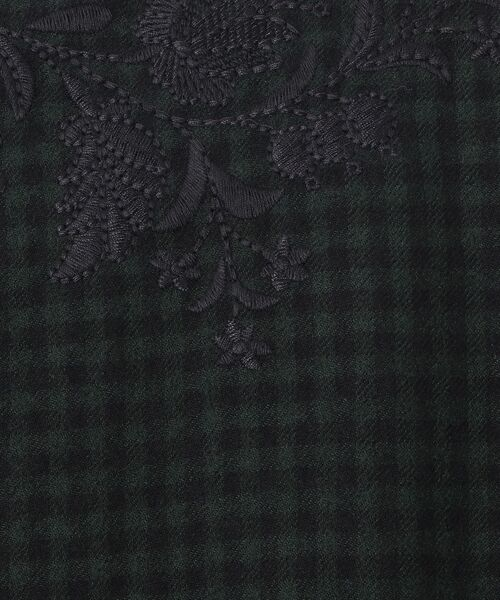 BEARDSLEY / ビアズリー ロング・マキシ丈ワンピース | ウールギンガムワンピース | 詳細10