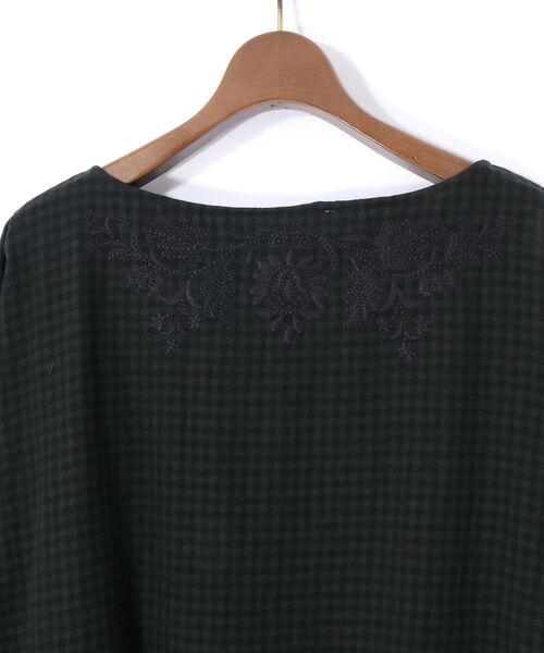 BEARDSLEY / ビアズリー ロング・マキシ丈ワンピース | ウールギンガムワンピース | 詳細11