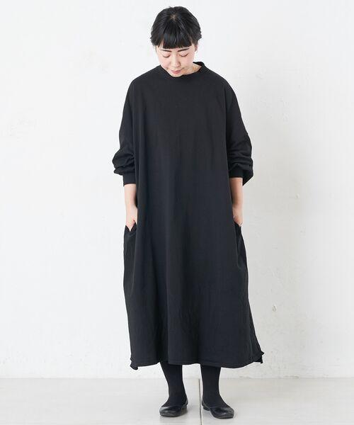 BEARDSLEY / ビアズリー ロング・マキシ丈ワンピース | BIGTシャツワンピース(ブラック)