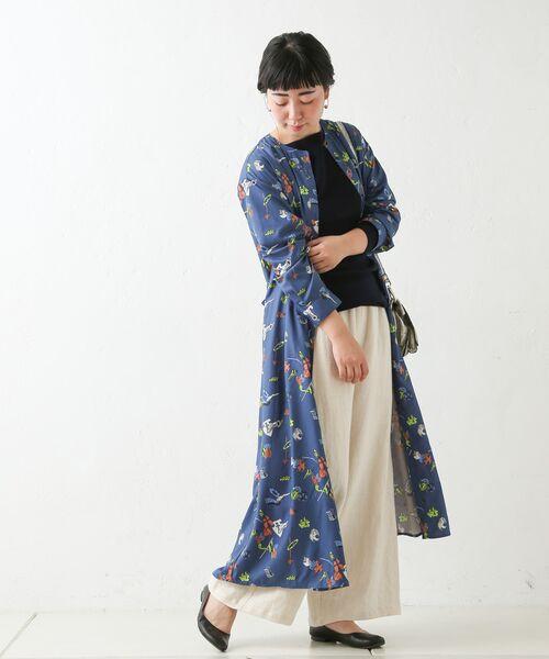 BEARDSLEY / ビアズリー ロング・マキシ丈ワンピース | おもちゃ柄プリントワンピース(ブルー)